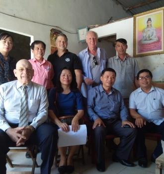 Khảo sát sửa chữa nhà tình thương  cho gia đình nạn nhân chất độc da cam ở quận Liên Chiểu